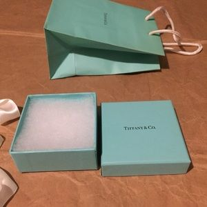 Tiffany co gift box & shopping bag